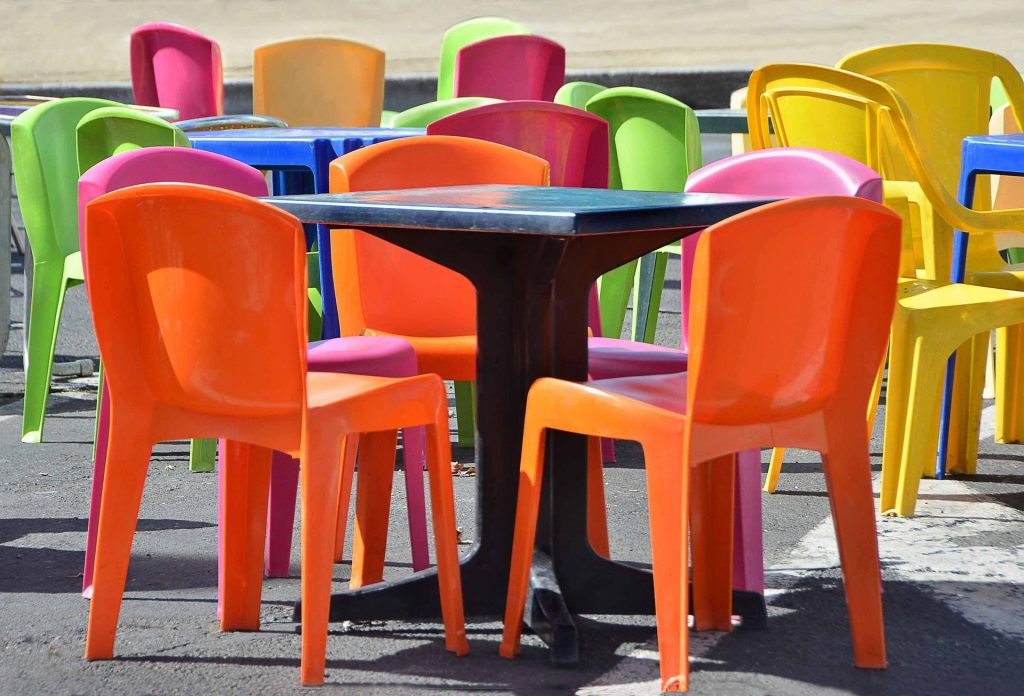 you don't have to stand on colourful plastic chairs to hire a copywriter
